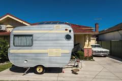 Sunshine (Westographer) Tags: sunshine vintage suburbia plymouth australia melbourne oldschool retro parked caravan frontyard westernsuburbs