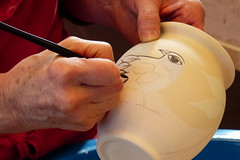 Judy working (evisdotter) Tags: work working keramik åland sooc keramiker judykuitunen gölby