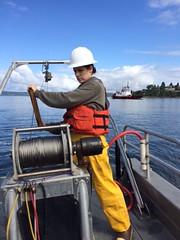 Eyes Under Puget Sound scientists working in the field (EcologyWA) Tags: marinescience taxonomy benthos letstalkscience washingtondepartmentofecology marinemonitoring benthicinvertebrates marinesedimentmonitoring