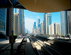 Emirates Towers station., Dubai Metro (TakeJet999) Tags: dubai pentax q 08 q7