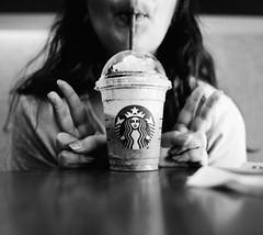 Everyone Loves Starbucks (Wakefanatic1000) Tags: blackandwhite monochrome mediumformat trix hasselblad starbucks diafine 60mm distagon 500cm filmisnotdead