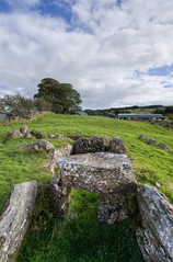 Knockoneill Court Tomb kerb (backpackphotography) Tags: ireland megalithic court photography ancient rocks stones tomb londonderry backpack prehistoric hdr derry megalith northern ireland tomb court knockoneill knockoneill