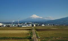 Mount Fuji (2016) (jpellgen) Tags: travel mountain station japan train landscape japanese spring nikon sigma jr mountfuji  fujisan nippon shizuoka  nihon mtfuji 2016  japanrail 1770mm d7000 shinksen