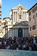 Santi Vincenzo e Anastasio and the Trevi Fountain (Joe Shlabotnik) Tags: italy rome roma church fountain italia chiesa trevifountain 2016 afsdxvrzoomnikkor18105mmf3556ged march2016