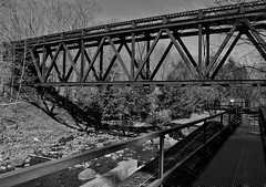 Trestle at Rice Rips Dam (cfr-photos) Tags: railroad trestle oakland maine penstock carlrella messalonskistream riceripsdam