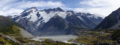 Hooker Valley ll... (setoboonhong) Tags: park new travel lake mountains ice nature island mt outdoor south cook glacier trail zealand alpine national valley vegetation hooker