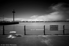 (Claire Hutton) Tags: uk longexposure sea blackandwhite bw beach clouds mono spring rail sunny le dorset daytime railings weymouth ndfilter ndgrad 10stop leefilters 10stopper sonya6000