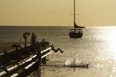 Caribbean West Indies Martinique (panoround hutter) Tags: sunset sea jumping reflection water gold light jacht swimming kids hutterdesign hutter