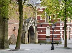 utrecht domplein (gerben more) Tags: tree netherlands architecture square streetlight gate utrecht arch dom nederland domplein