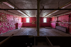 Red Room (cvan1978) Tags: abandoned yellow architecture michigan urbanexploration traversecity asylum statehospital historicplaces kirkbride traversecitystatehospital thevillageatgrandtraversecommons
