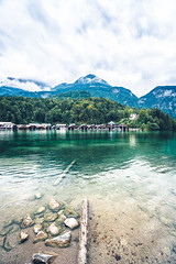 Konigsee, Germany (FARR Frameworks) Tags: travel sky lake mountains clouds reflections germany bavaria explore boathouses