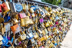 Love Locks Near Pont Neuf (Serendigity) Tags: city paris france railings padlocks lovelocks