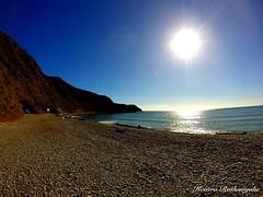 Makara Beach - Wellington [20160424_G0023722_HDR] (Kesara Rathnayake (kesara.lk)) Tags: sea newzealand sky sun reflection beach glare horizon nz wellington hdr makara makarabeach gopro luminancehdr