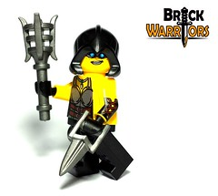 Akeena Arm Printing (BrickWarriors - Ryan) Tags: castle girl lego bank medieval torch fantasy hood dagger rogue custom limited edition printed riddle robber minifigure katar regicide akeena brickwarriors