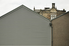 DSC_9759 [ps] - White Strand & Grey Band (Anyhoo) Tags: uk chimney window metal stone wall contrast buildings grey scotland beige university louvre pipe screen blank standrews gutter grille siding ornate juxtaposition plain fins gable decorated finial ecru downpipe shuttering anyhoo photobyanyhoo