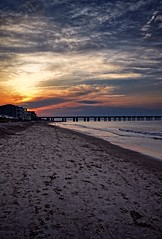 Chesapeake Beach, Virginia Beach, Virginia (BDM17) Tags: bridge sunset beach virginia sand surf footprints tunnel va chesapeake chics
