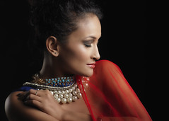 Touched By Rouge (Siddiqui, sayeed) Tags: red portrait bangladesh modelshoot studiowork