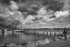 Imbarcadero (Pablos55) Tags: sky bw clouds pier nuvole ship bn nave cielo wharf pontile imbarcadero