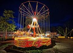 Lonely carousel - Amusement park Prague (petrwag) Tags: street colors night czech clickcamera sel1018z