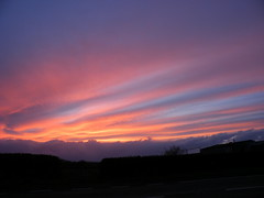 Striped sunset (rospix+) Tags: uk pink blue sunset sky nature wales clouds countryside april 2016 rospix