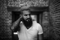 Erkan (A.R.F.R) Tags: portrait people bw man male face germany beard deutschland photography blackwhite nikon fotografie bokeh availablelight sigma naturallight portrt bn sw ritratto biancoenero schwarzweis natrlicheslicht lucedisponibile vorhandeneslicht skancheli nikond750 sigam50mm14art