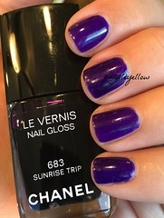 Chanel Sunrise Trip (purple yellow) Tags: trip sunrise nail polish chanel 683