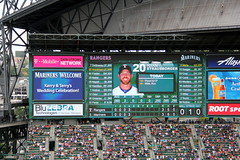 Celebrating with our friends (NJ Baseball) Tags: seattle washington mariners safecofield seattlemariners americanleague 2015 daygame majorleagues