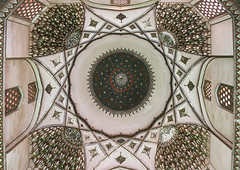 ceiling with its intricate and elaborate patterns in three domes moshtaghie, Central County, Kerman, Iran (Eric Lafforgue) Tags: decorations detail building history up horizontal architecture persian ancient asia iran islam traditional decoration culture persia nobody ceiling architectural historic indoors dome historical iranian sight kerman cultural islamic decorated إيران placeofinterest иран イラン irão 伊朗 builtstructure centralcounty colourpicture 이란 irandsc07267 moshtaghie