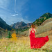 A lady in the Maroon Bells
