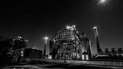 Industrial Landscape Park Duisburg Nord at Night (P1160165) (Andreas Habermehl) Tags: park industry night germany landscape industrial nrw landschaftspark duisburg nord landschaftsparknord landscapeparknord