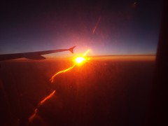 Sunrise over Mediterranean See (antallajos) Tags: barcelona sunset sunrise germany munich bavaria spain airbus mallorca a320 vueling palmademalloorca