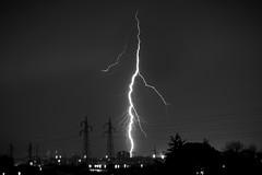 Thunderlight strike and Lightning Storm - Livorno, Italy  (B&W) (iaso) Tags: storm cloudy rainy lightning pioggia livorno thunder badweather temporale thunderbolt tempesta fulmine lightstorm saetta thunderlight