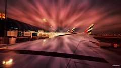 Sunrise moment at Dubai (iJoydeep) Tags: sunrise airport dubai emirates international unitedarabemirates ijoydeep