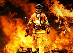 In to the fire (teri.fuller) Tags: rescue white man male public yellow horizontal standing work fire person boot one clothing uniform fighter adult mask serious background coat helmet gear pride safety equipment help jacket hero fireman reflective strong brave enforcement protective volunteer emergency firefighter job macho protection department leadership isolated confident confidence profession occupation resistant