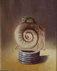 Composizione con camaleonte (Artlynow galleria d'arte) Tags: artista pittura dipinto camaleonte quadroastratto giovannigreco