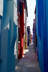 (LucyCunningham) Tags: street venice houses italy alley colours bright vanishing narrow burano d5300