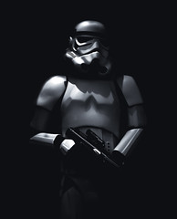 Shadowtrooper (Skuggzi) Tags: uk cinema film monochrome starwars helmet armor empire scifi stormtrooper laser imperial sciencefiction armour blaster