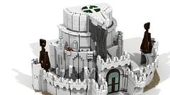 Minas Tirith 12 (Anduin1710) Tags: city white men king minas lego lotr return tolkien middleearth jrr tirith the thelordoftherings ldd gondor digitaldesigner