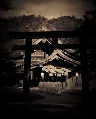 Izumo-Taisha Shrine (tAkeO mAedA) Tags: japan sepia god  shimane