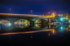 Ponte sullo stagno (spillo46) Tags: sardegna bridge panorama sardinia ponte luci riflessi notturna notte paesaggio alghero stagno alguer ponteromano calik fertilia