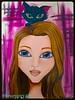 MARIA (silviaproserpinart) Tags: pink art blackcat bigeyes doll acrylic maria blueeyes blonde proserpina proserpinart