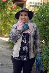 burmese lady construction worker (the foreign photographer - ) Tags: hat lady portraits thailand construction nikon bangkok worker bang burmese bua khlong bangkhen d3200 jan92016nikon