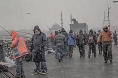 DSC_1666 (zeynepcos) Tags: bridge winter snow man cold fishing fisherman outdoor istanbul mosque galata karakoy eminonu