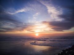 The lost surfboard sunset (paulissimosousa) Tags: sunset sea sky beach portugal beautiful clouds surf waves surfboard aveiro praiadabarra oneplusone