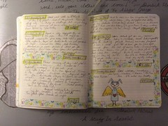 2016 Journal Pages (trishahillery) Tags: fountain pen pencils sketch diary journal mother teacher doodle write draw prismacolor runner washi washitape