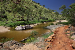 Simpsons Gap, West MacDonnell Ranges (cathm2) Tags: travel trees colour water walking landscape scenery stream nt walk australia outback northernterritory simpsonsgap alicesprings redcentre westmacdonnell