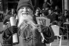 Gap (Luis Alvarez Marra) Tags: street camera city portrait bw white black souls lens beard photography 50mm prime spain nikon flickr faces outdoor candid creative commons going snap catalonia crop luis moment unposed alvarez collecting reus tog decisive marra d7000 streettog