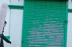 (fran&ois) Tags: street uk england white green london pedestrian storefront