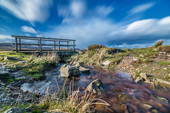 Little Bridge (karlmccarthy1969) Tags: uk longexposure bridge blue sky green water beautiful grass wales clouds nikon rocks breconbeacons d750 ndfilter blaenavon