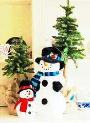 Snowmen (snap713) Tags: winter watercolor snowmen